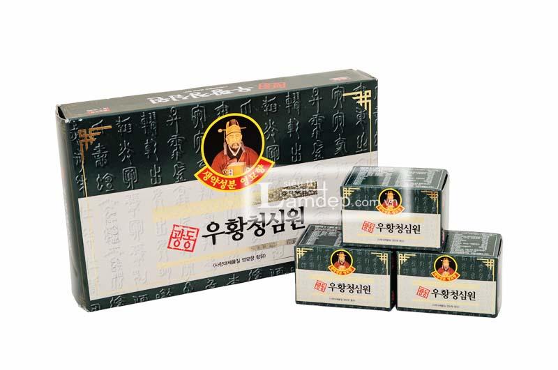 An Cung Ngưu Hoàng Hàn Quốc (Hộp Xanh 10 Viên) Giá 900.000đ/hộp